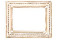 Decorative wooden frame vector illustration