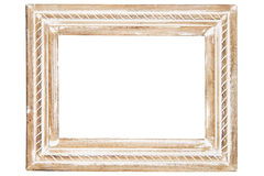 Decorative wooden frame Stock Photo
