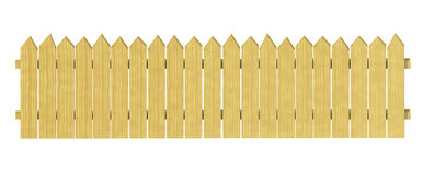Decorative wooden garden fencing. Stock Image