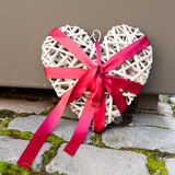 Decorative wooden heart Stock Photography