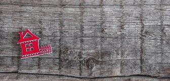 Decorative wooden house shape Stock Image