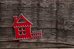 Decorative wooden house shape Stock Photos