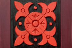 Decorative Wooden Panel With Abstract Woodcarving Ornament Royalty Free Stock Image