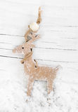 Decorative wooden reindeer Stock Photo
