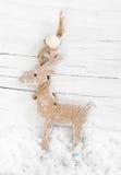 Decorative wooden reindeer Stock Photo