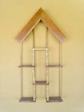 Decorative wooden shelf Royalty Free Stock Photography