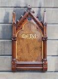 Decorative wooden sign - Menu Stock Photos