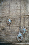 Decorative wooden texture with artificial droplets. Decorative gray wooden texture with artificial droplets stock photography