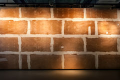 Decorative wooden wall with  brick pattern Royalty Free Stock Photos