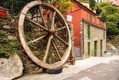 Decorative wooden wheel Royalty Free Stock Photo