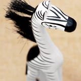 Decorative wooden zebra Royalty Free Stock Photo