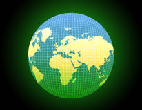 Decorative world globe Stock Images