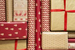 Decorative wrapping papers royalty free stock photo