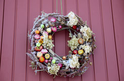 Decorative Wreath. Christmas front door Stock Photos