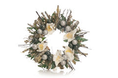 Decorative wreath with flowers Royalty Free Stock Image