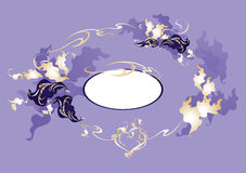 Decorative wreath with oak leaves Royalty Free Stock Photos