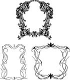 Decorative wreaths as frames Royalty Free Stock Image