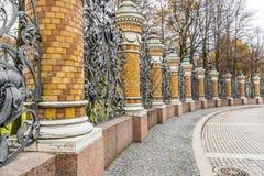 Decorative wrought iron fence Royalty Free Stock Image