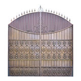Decorative wrought iron gates. Stock Photo