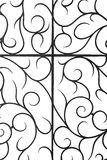 Decorative wrought iron grille Royalty Free Stock Images