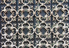 Decorative wrought-iron grille Stock Photography