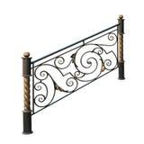 Decorative wrought iron railings. Stock Photos