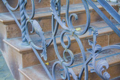 Decorative wrought iron security Royalty Free Stock Images