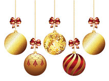 Decorative Xmas Balls Stock Photography