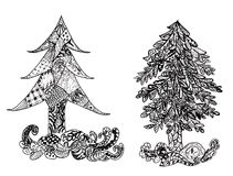 Decorative Xmas Tree. Stylized christmas tree made of decorative abstract ornaments Royalty Free Stock Image