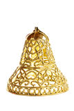 Decorative yellow bell ornament  for Christmas tree Stock Image