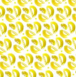 Decorative yellow leaf pattern. Stock Image