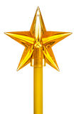 Decorative yellow star on stick Royalty Free Stock Photo