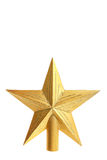 Decorative yellow star for top of Christmas tree Royalty Free Stock Photos