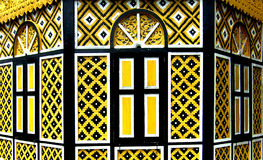 Decorative Yellow Windows Royalty Free Stock Photography