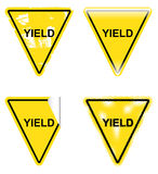 Decorative Yield Signs Royalty Free Stock Photo