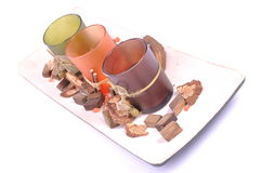 Decorative zen candle pot different colors Royalty Free Stock Photo