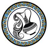 Decorative Zodiac sign Aquarius Stock Photography