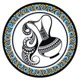 Decorative Zodiac sign Aquarius Stock Photography