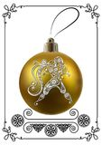 Graphic illustration with Christmas decoration 28 Stock Images