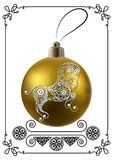 Graphic illustration with Christmas decoration 29 royalty free illustration
