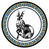 Decorative Zodiac sign Capricornus Stock Image