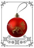 Graphic illustration with Christmas decoration 23 royalty free illustration