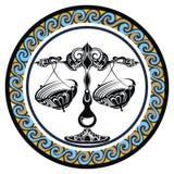 Decorative Zodiac sign Libra Royalty Free Stock Photos