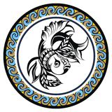 Decorative Zodiac sign Pisces Royalty Free Stock Photos
