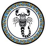 Decorative Zodiac sign Scorpio Royalty Free Stock Photo