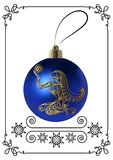 Graphic illustration with Christmas decoration 22 stock illustration