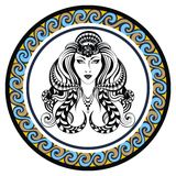 Decorative Zodiac sign Virgo Royalty Free Stock Images