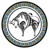 Decorative Zodiac Taurus Royalty Free Stock Photo