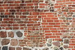 Decoratively wall. Decorative brick-work with natural stones Royalty Free Stock Image