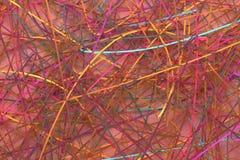 Decorativo, composição do cgi das ilustrações, contexto virtual das cordas desarrumados, para o fundo da textura do projeto 3d re foto de stock royalty free